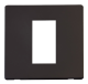 1G SINGLE MEDIA MOD PLATE - SCP310 - Scolmore