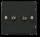 TWIN CO-AXIAL SOCKET INSERT - SIN066 - Scolmore