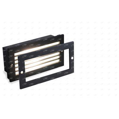 All Led 240v LED Brick Light IP65 Black Grill