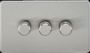 Screwless 3G 2-Way 40-400W Dimmer Switch-SF2183-Knightsbridge