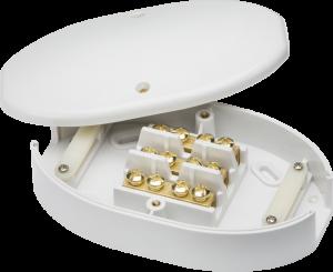 60 Amp Junction Box 3 Terminal White 25mm