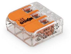 Wago 221 Series Lever Cage Clamp Compact Connectors 3 Way Connectors