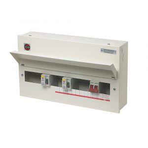 Wylex 15 Way 100A Dual Split Load High Integrity Metal Consumer Unit - Amendment 3 Wylex