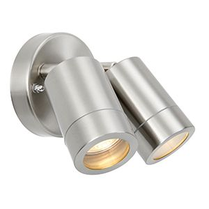 Atlantis Directional 2 Light Spot IP65 Stainless Steel