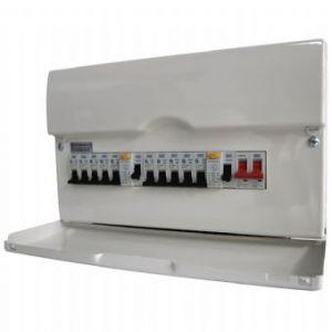BG 16 Way Fully Loaded High Integrity Metal Consumer Unit 22 Module w/ 100A Sw & 2x63A RCD, 12 MCBs