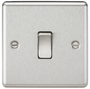 10A 1G 2 Way Plate Switch-Rounded Edge-CL2BC-knightsbridge