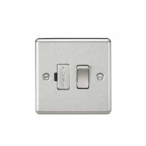 Knightsbridge CL63BC 13A Switched Fused Spur Unit-Rounded Edge Brushed Chrome
