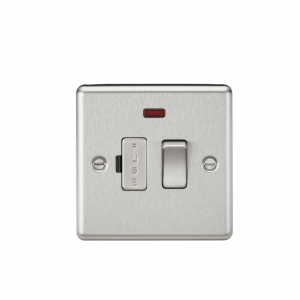 Knightsbridge CL63NBC 13A Switched Fused Spur Unit with Neon-Rounded Edge Brushed Chrome