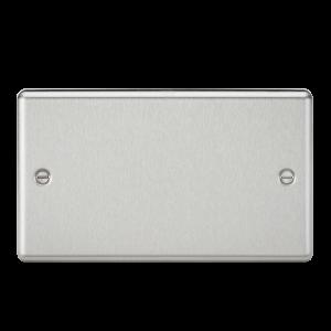 2G Blanking Plate - Rounded Edge Brushed Chrome-CL86BC-Knightsbridge