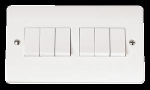 2G 6 APERTURE WITH 6 x RETRACTIVE MODULE-CMA-SMART6-Scolmore