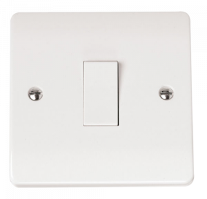 1-GANG 1-WAY 10A PLATE SWITCH-CMA010-Scolmore