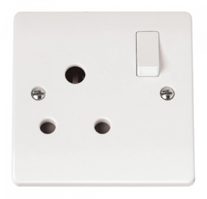 15A ROUND PIN SWITCHED SOCKET-CMA034-Scolmore