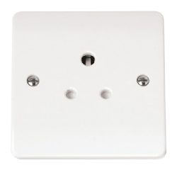 1-GANG 5A ROUND PIN SOCKET OUTLET-CMA038-Scolmore