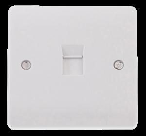 Click Mode 1 Gang Single Cat-5E Outlet CMA131 White Plastic UK
