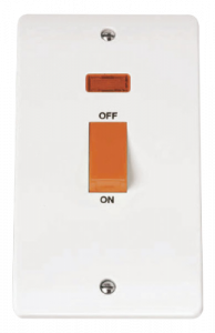 2-GANG45A D/P SWITCH WITH NEON-CMA203-Scolmore