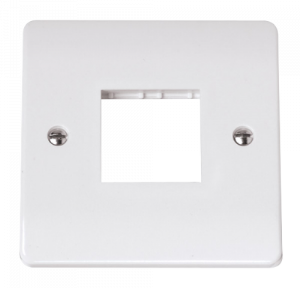 SINGLE SWITCH PLATE2 GANG APERTURE-CMA402-Scolmore