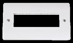 2G PLATE 6 INLINE APERTURE-CMA426-Scolmore