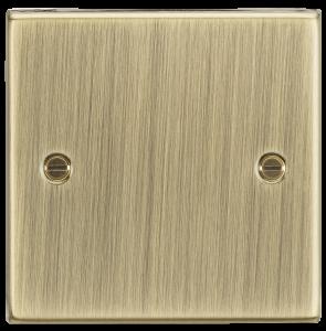 1G Blanking Plate - Square Edge Antique Brass-CS85AB-Knightsbridge