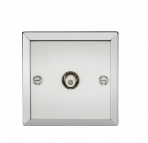 SAT TV Outlet - Bevelled Edge Polished Chrome-CV015PC-Knightsbridge