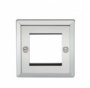 2G Modular Faceplate - Bevelled Edge Polished Chrome-CV2GPC-Knightsbridge