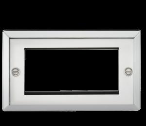 4G Modular Faceplate - Bevelled Edge Polished Chrome-CV4GPC-Knightsbridge