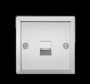 Telephone Master Outlet - Bevelled Edge Polished Chrome-CV73PC-Knightsbridge