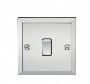 20A 1G DP Switch - Bevelled Edge Polished Chrome-CV834PC-Knightsbridge