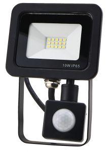 Red Arrow 10w LED IP65 security flood light 6000k Black Body with PIR Sensor
