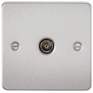 Flat Plate 1G TV Outlet (non-isolated)-FP0100-Knightsbridge