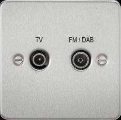 Flat Plate Screened Diplex Outlet (TV & FM DAB)-FP0160-Knightsbridge