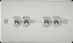 Flat Plate 10A 4G 2-way toggle switch-FP4TOG-Knightsbridge