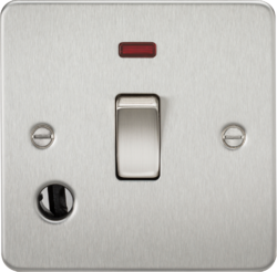 Flat Plate 20A 1G DP switch with neon & flex outlet-FP8341F-Knightsbridge