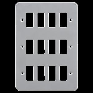 Metalclad 12G grid faceplate-GDFP0012M-Knightsbridge