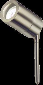 Knightsbridge GU10SPIKEL Stainless Steel Lightweight Spike Light, Aluminium, 35 W, GU10 IP65