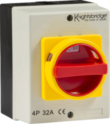 IP65 32A Rotary Isolator 4P AC (230V-415V)-IN0026-Knightsbridge