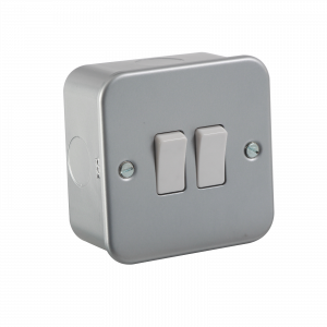 Metal Clad 10A 2G 2 Way Switch-M3000-Knightsbridge