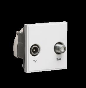 Diplexed TV /SAT TV Outlet Module 50 x 50mm-NETDISAT-Knightsbridge