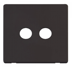 TWIN CO-AXIAL SKT PLATE - SCP232 - Scolmore