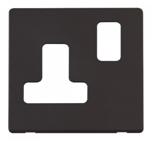 1G 15A ROUND PIN SW SKT PLATE - SCP234 - Scolmore