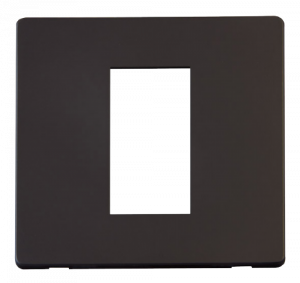 1G SINGLE MEDIA MOD PLATE - SCP310 - Scolmore