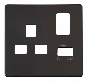 1G SK SKT USB COVER PLATE DEFINITY - SCP471 - Scolmore