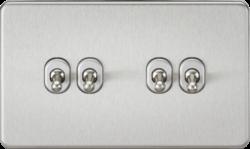 Screwless 10A 4G 2-Way Toggle Switch-SF4TOG-Knightsbridge
