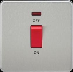 Screwless 45A 1G DP Switch with Neon-SF8331N-Knightsbridge