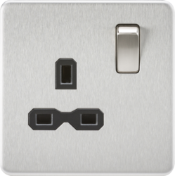 Screwless 13A 1G DP switched Socket-SFR7000-Knightsbridge