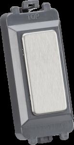 Blank grid module - brushed chrome