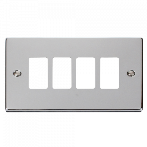 GRIDPRO 4 GANG DECO PLATE - VP**20404 - SCOLMORE